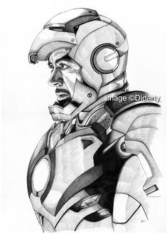 Iron Man Portrait Print In Drawings Marvel Drawings - May Pen Ink Portrait Of Robert Downey Jr As Tony Stark Iron Man Entirely Hand Drawn Using Only Fine Nibbed Ink Pens Pen And Ink Is My Favourite Drawing Medium Although Very Unfo Avengers Drawings, Drawing Superheroes, Avengers Art, Marvel Art, Iron Man Kunst, Iron Man Art, Comic Kunst, Comic Art, Iron Man Drawing
