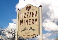 Tizzana Winery Sign