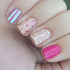 Get inspirations from these cool stylish nail designs for short nails. Find out which nail art designs work on short nails! Fancy Nails, Diy Nails, Beige Nails, Pastel Nails, Leopard Nails, Dot Nail Art, Trendy Nail Art, Super Nails, Creative Nails