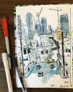 (Urbansketchers Dresden) Skizzieren, Sketchbook, Design, Student, App … – Dress Models – Famous Last Words Urban Sketchers, Sketchbook Inspiration, Art Sketchbook, Art And Illustration, Portfolio D'art, Dresden, Drawing Sketches, Art Drawings, Drawing Drawing