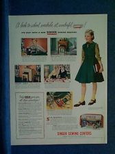 1950 Singer Sewing Machine Ad~Jackson Mississippi Store