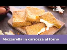Mozzarella, Cornbread, Love Food, French Toast, Picnic, Cooking, Breakfast, Ethnic Recipes, Youtube