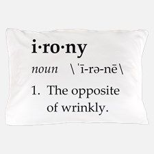 Irony Definition The Opposite of Wrinkly Pillow Ca for