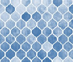 Textured Blue Moroccan fabric by micklyn on Spoonflower - custom fabric
