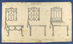 Thomas Chippendale | Gothick [Gothic] Chairs, in Chippendale Drawings, Vol. I | The Metropolitan Museum of Art
