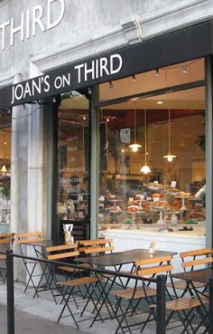 Joan's on Third, LA. Excellent sandwiches, cheese selection, pastries and green tea.