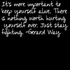 Oh Gerard Way, such an inspiration to me :')