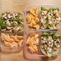 Chicken Lettuce Wraps With Fruit: We have the tips on how to make P. Lunch Meal Prep, Easy Meal Prep, Healthy Meal Prep, Healthy Snacks, Easy Meals, Healthy Recipes, Detox Recipes, Advocare Recipes, Vegetarian Meal