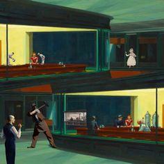 Remix - digital collage - iuri kothe - 2016 (just Hopper as source)