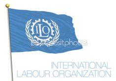 Bandiera di Nazioni Unite, International Labour Organization, Ilo — Vettoriali…