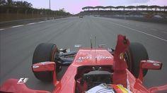 """Ferrari radio: """"Numero uno is back, Ferrari is back!"""" A screaming Vettel responds: """"Grazie mille"""""""