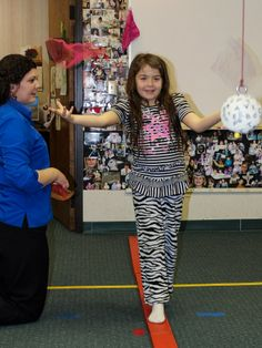"""From Wow Vision Therapy: """"Scarf juggling - A Wow Vision Therapy activity that facilitates the development of peripheral visual awareness. This technique incorporates vestibular integration, proprioception, visual motor integration and visual tracking and... it's fun!"""""""