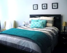 love the colors- especially the pop of teal!
