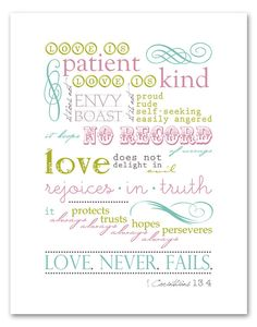 love is patient, love is kind... : )