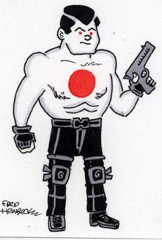 Fred-Hembeck-Color-Sketch-Card-Bloodshot-Valiant-Comics-1-1