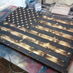 Rustic Flag Coffee Table