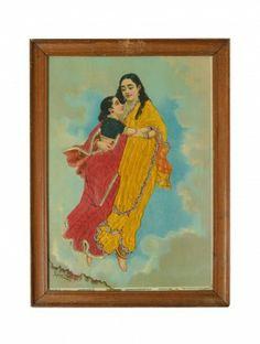 Menaka-Shakuntala Oleograph - Raja Ravi Verma #art #painting #decor  www.jaypore.com