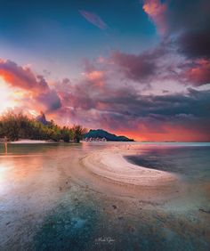 Ahmet krtl -Mesmerizing Landscapes of Bora Bora by Mick Gow #photography