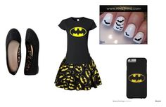 """""""bat man"""" by alyssa1023 ❤ liked on Polyvore featuring Aéropostale"""