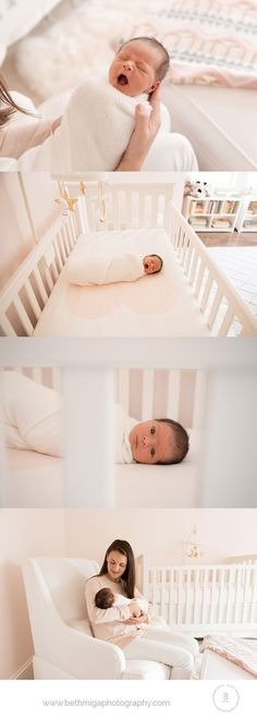 ideas for photographing baby in nursery | newborn photography boston | in home newborn photography | lifestyle newborn photography