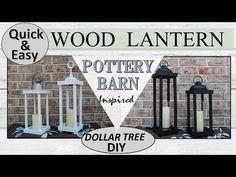 Dollar Tree Vases, Dollar Tree Gifts, Dollar Tree Decor, Porch Lanterns, Lanterns Decor, Wedding Lanterns, Leelah, Diy Kit, Pottery Barn Inspired