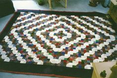 Garden Path design by Anita Hollock, quilted by Mrs. B and Institches2014!
