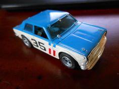 Aurora AFX #1776 dark blue #35 BRE-DATSUN 510 TRANS-AM HO Scale Slot Car