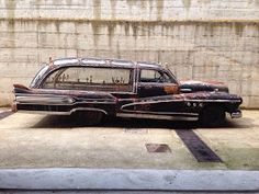 Just A Car Guy: It has a new home, and air in the tires. 1947 Buick hearse, body by Hercules Rat Fink, Buick Wagon, Buick Roadmaster, Flower Car, Rusty Cars, Abandoned Cars, Station Wagon, Cars And Motorcycles, Vintage Cars