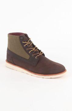 Vans Brenton Hi Wax Canvas Brown Shoes ($99.00)