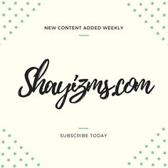New blog post added today! Head over to my blog and subscribe.