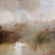 Poem lines...the bigger pictures, ' The landscape is a feeling. ' by Tonie Rigby, acrylic on board, 33 inches square.