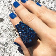 Dazzling BLUE DRUZY STONE RING Stone Rings, Druzy Ring, Amulets, Beads, Crystals, Nails, Gypsy, Designers, Stones