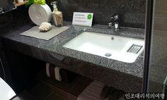 인조대리석공장-인조대리석세면대 호텔 모텔 간이세면대 사용하기 편리한 동선과 디자인으로