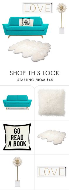 """""""Untitled #13"""" by poppyh999 ❤ liked on Polyvore featuring interior, interiors, interior design, home, home decor, interior decorating, Joybird Furniture, Pottery Barn, One Bella Casa and UGG Australia"""