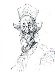 Male character design drawing by Iain McCaig Character Sketches, Character Design References, Character Drawing, Character Illustration, Illustration Art, Art Illustrations, Drawing Sketches, Art Drawings, Drawing Tips