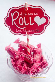 'I Like You How Roll' Valentine Tags