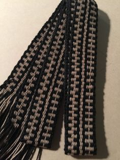Handwoven Inkle Loom Sash.  100% Cotton.  Costume accessory for SCA, Historical Reenactment, Mountain Man Events, Etc. Item #25-458152.