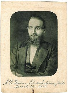 Abolitionist Aaron Dwight Stevens was executed March 16th 1860 for his part in John Brown's raid on Harpers Ferry.