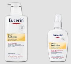 Two Free samples of Eucerin Daily Protection Moisturizing Lotion. – FB