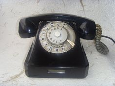 Vintage Soviet Black Rotary Telephone Made in USSR in 1968 on Etsy, $44.00