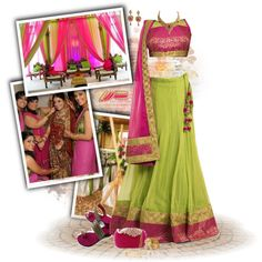 Indian Wedding by dkelley-0711 on Polyvore featuring moda, Kate Spade, Amrapali, Halcyon Days and summerwedding
