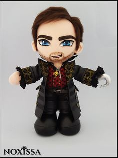 Killian Jones - Captain Hook - Once Upon A Time - OOAK (One of a Kind) Plush Art Doll