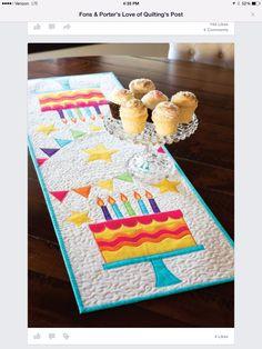should really make a birthday tablerunner