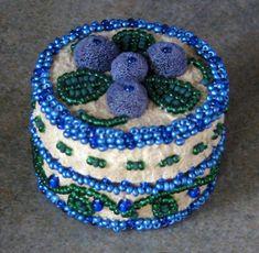 Déné (Athabaskan) bead-embroidered hide box with moose hair tufting - Fairbanks, Alaska, 2007.