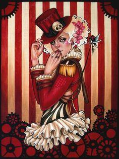 The Ringmistress by Glenn Arthur, Acrylic on Wood, 2011