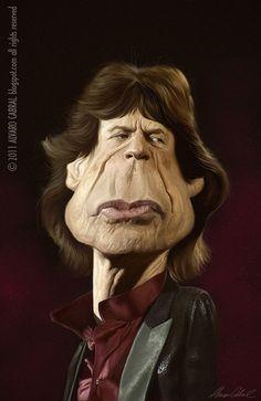 Mick Jagger caricature by Alvaro Cabral, via Flickrr - www.remix-numerisation.fr - Rendez vos souvenirs durables ! - Sauvegarde - Transfert - Copie - Restauration de bande magnétique Audio