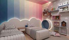 Kids room ideas – Home Decor Designs Kids Bedroom Designs, Room Design Bedroom, Kids Room Design, Home Room Design, Bedroom Decor, Boy And Girl Shared Room, Boy Girl Room, Unisex Kids Room, Unisex Baby