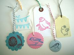 stamped labels - lovely!