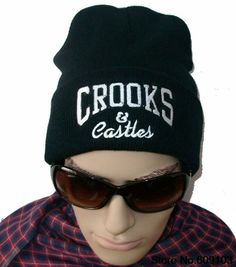 ea504b6b45b Hip-Hop Unisex Crooks And Castles Beanies Wen s Women s Winter knit Cotton  wool Hats Snapback caps 1pcs lot  9.99