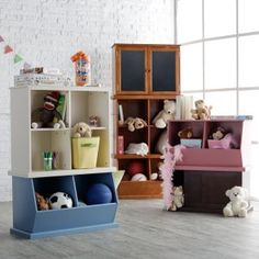 Clic Playtime Hopscotch Stackable Toy Storage Kids Furniture At Hayneedle This Website Has Several Other Short Horizontal Bookshelf Options I Am